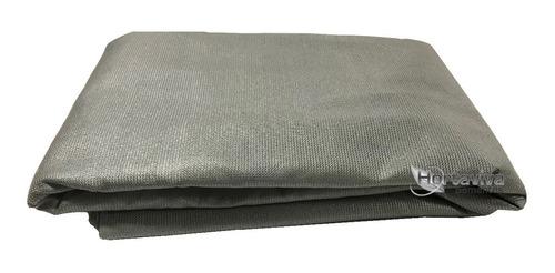 tela sombrite prata 90% - 2,5m x 6m com bainha e ilhós