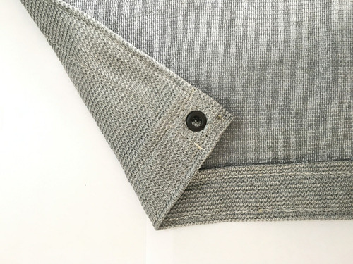 tela sombrite prata 90% - 4m x 5m com bainha e ilhós sl