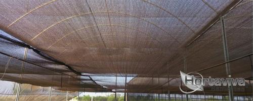 tela sombrite preta 50%  -  2 metros x 50 metros