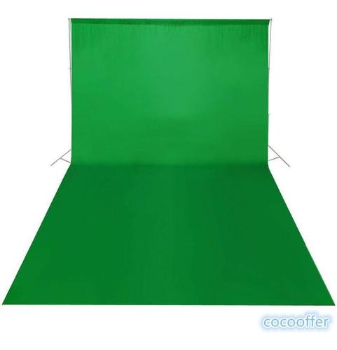 tela telon fondo foto estudio fotografia fondo lino verde 3m