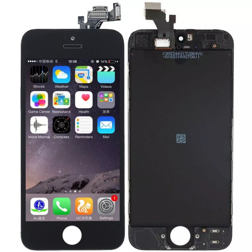 tela touch display lcd frontal iphone 5 5g 4,7pol com aro