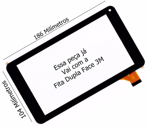 tela touch dl x pro dual tp266bra tp266 preto pronta entrega