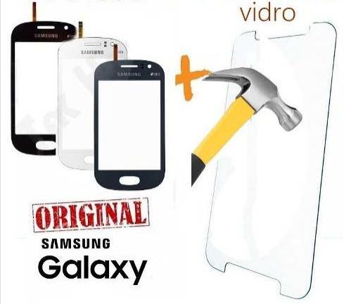 tela touch gt-s6810 s6812 galaxy fame + película vidro