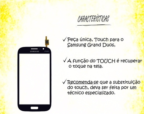 tela touch i9082 samsung galaxy grand duos azul