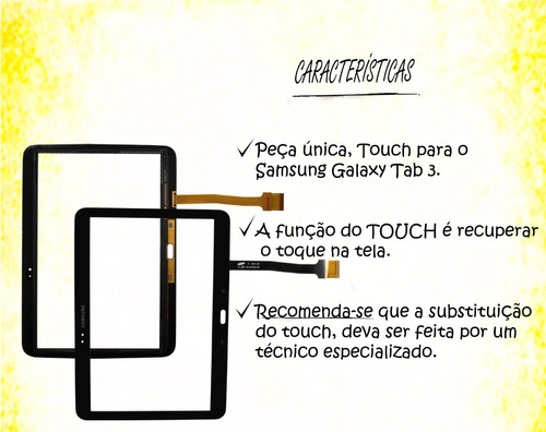 tela touch p/ tablet samsung p5200 p5210 tab 3 10.1