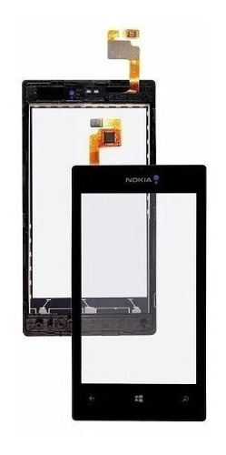 tela touch screen nokia lumia 520 n520 preto com aro