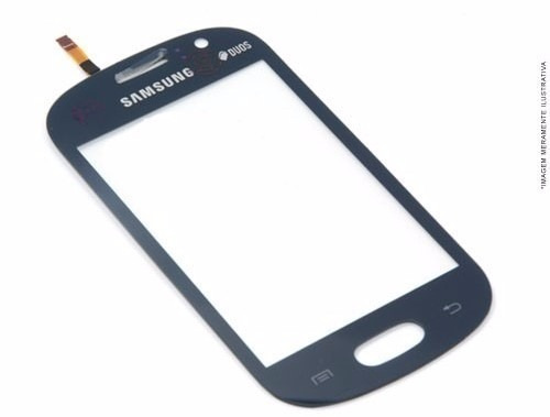 tela touch screen samsung s6810 s6812 galaxy fame azul