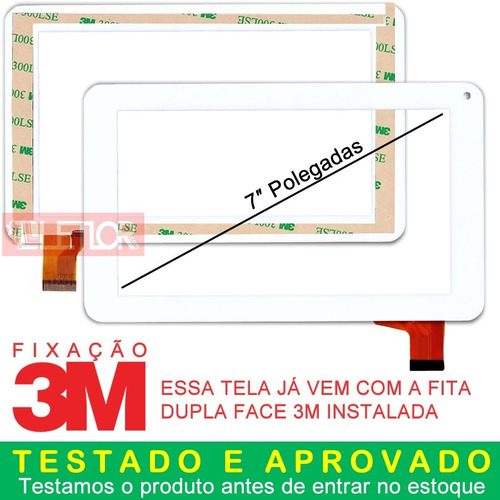 17cd0e01a Tela Touch Tablet Cce Motion First Tab Ts72 Pronta Entrega - R  52 ...