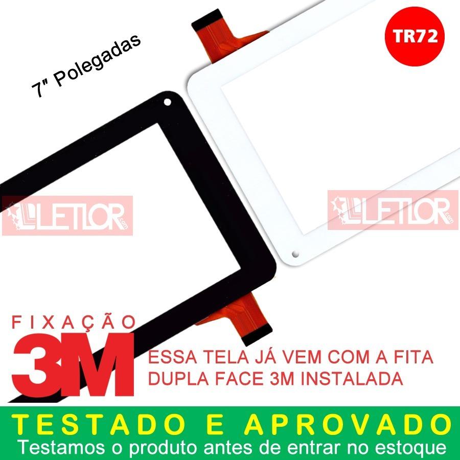 6da66cfd1 Tela Touch Tablet Cce Motion Tr72 Tr72b Kids Preto Branco - R  28