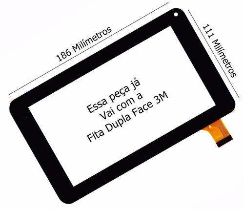 tela touch tablet dl i-style i style pis pin t71 t-71 + 3m