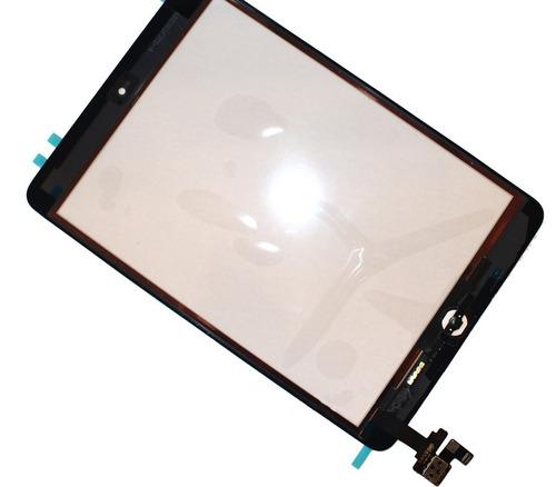 tela vidro c/ touch apple ipad mini preto / branco flex home