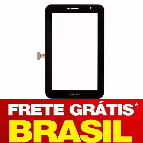 tela vidro touch tablet p6200 p6200l samsung galaxy tab 7''