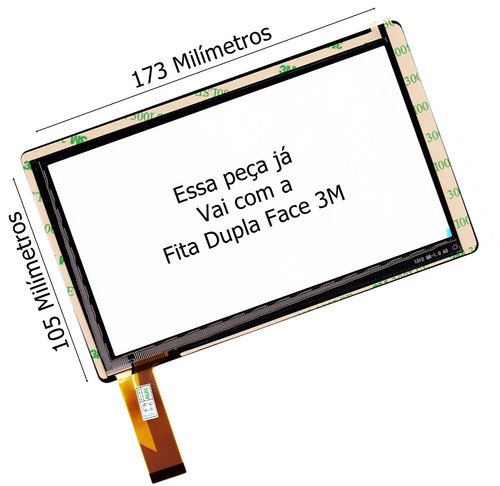 tela vidro touch tablet powerpack pmd-7204 pmd-7204n