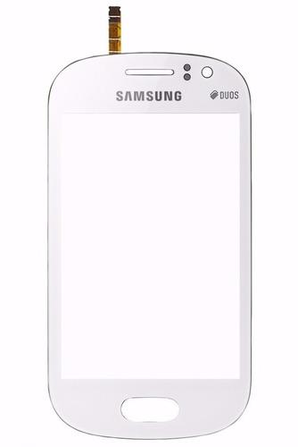 tela vidro touchscreen samsung s6810/6812 galaxy fame branco