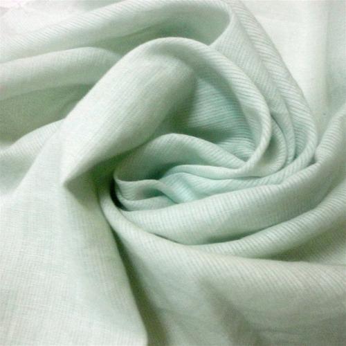 tela voile 100% algodón  x5 metros - color verde agua