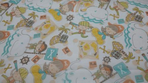 tela voile estampado infantil para cortinas infantiles