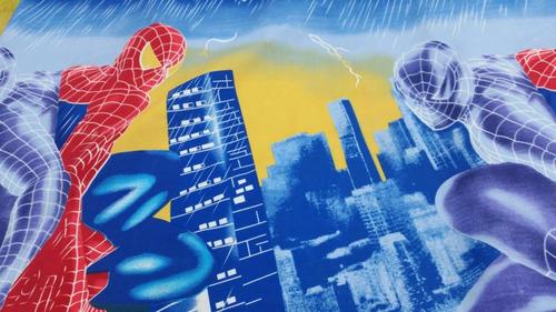 tela x metros telas infantiles polialgodón spiderman