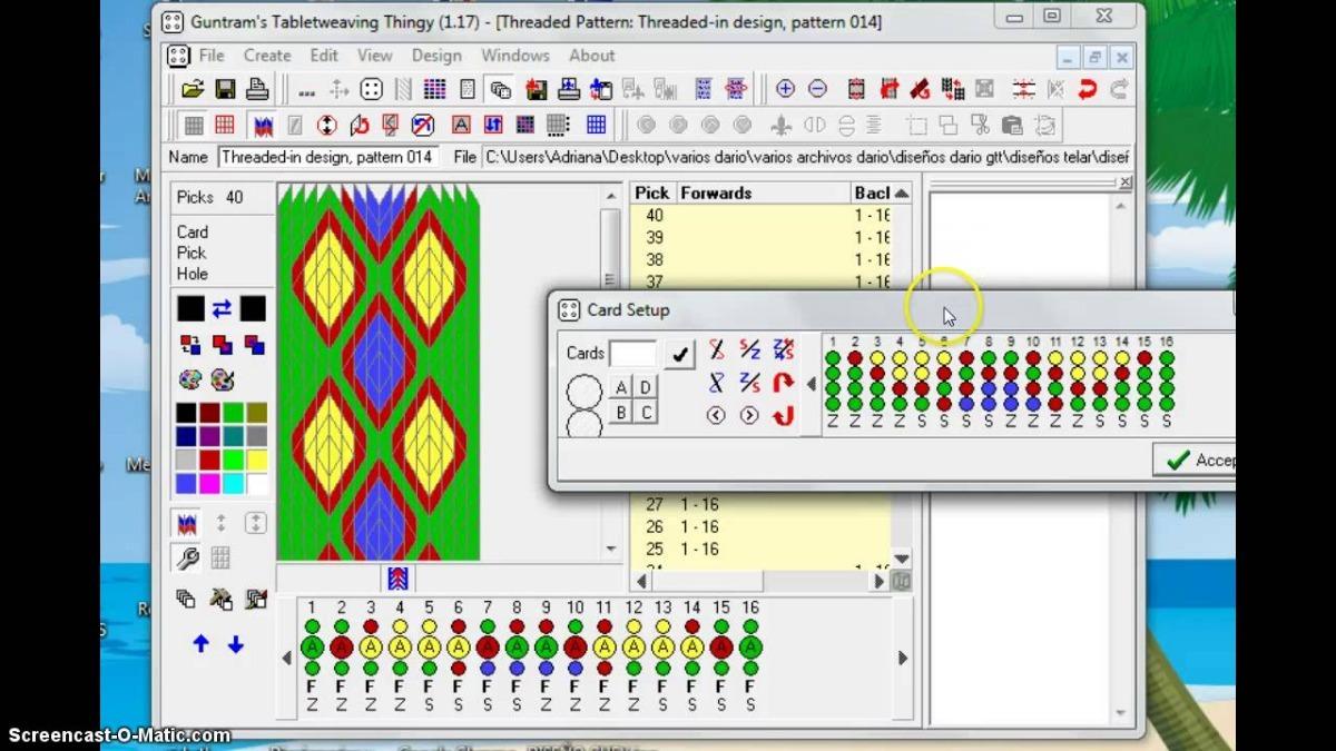 Telar Egipcio Programa De Diseño Del Telar. - $ 9.900 en Mercado Libre