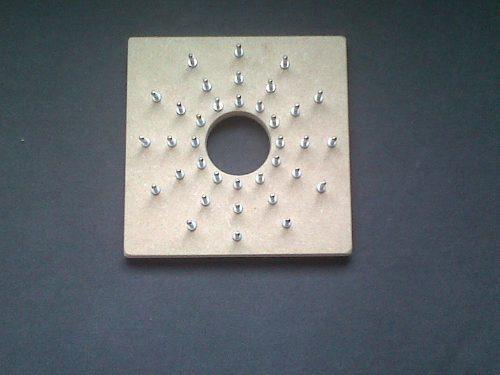 telar flor pines removibles y base madera (manual + agujas)