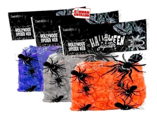 telaraña halloween varios colores pack x1 envíos - cc