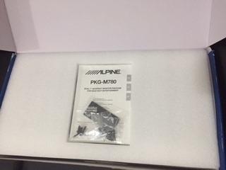 telas de encosto alpine 7 pkg-m780 com fone de ouvido