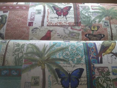 telas de tapiceria lona estampada importada