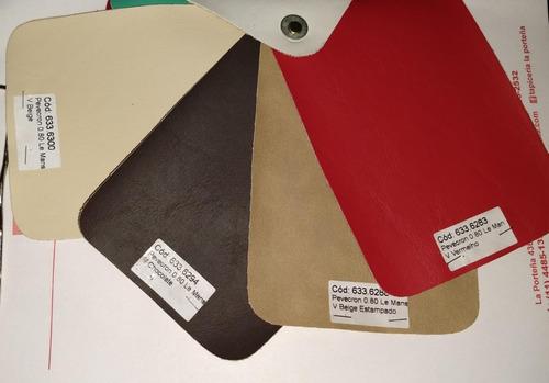 telas lino, supermilenium, ecocuer y talampaya goma espuma