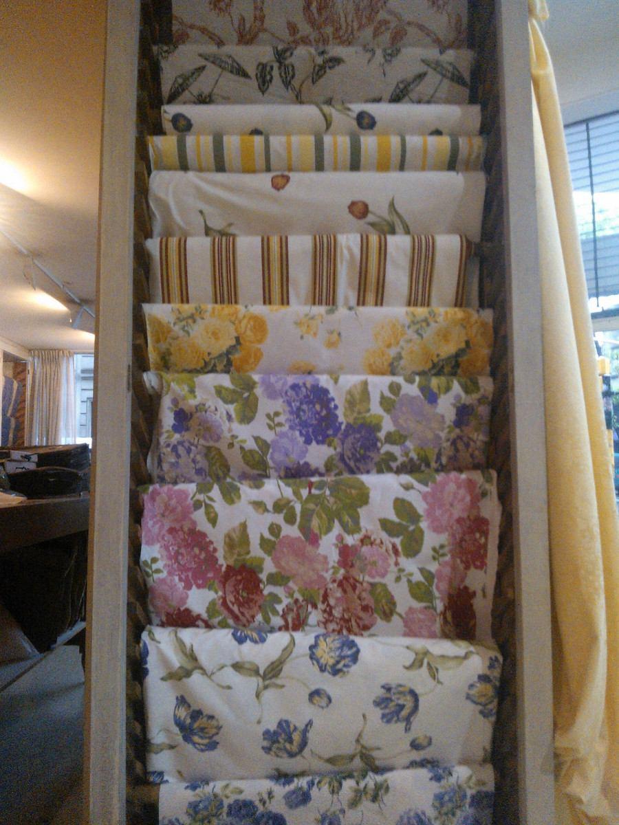 Telas de cortinas de cocina affordable cortina con - Cortinas de tela para cocina ...