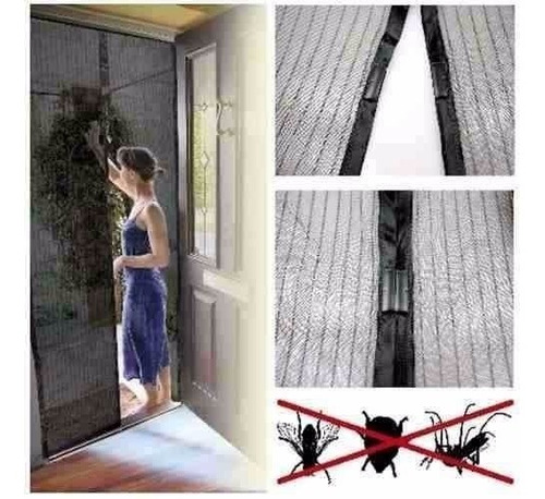 telas para mosquitos cortina de portas imâ oferta