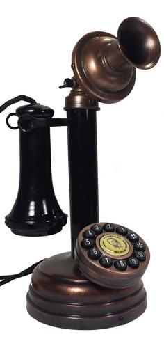telefone antigo castiçal - artesanal - várias cores