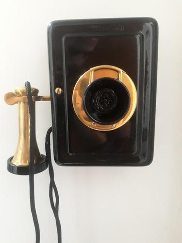 telefone antigo de parede western electric 1913