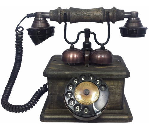 telefone antigo lord - discador disco - artesanal