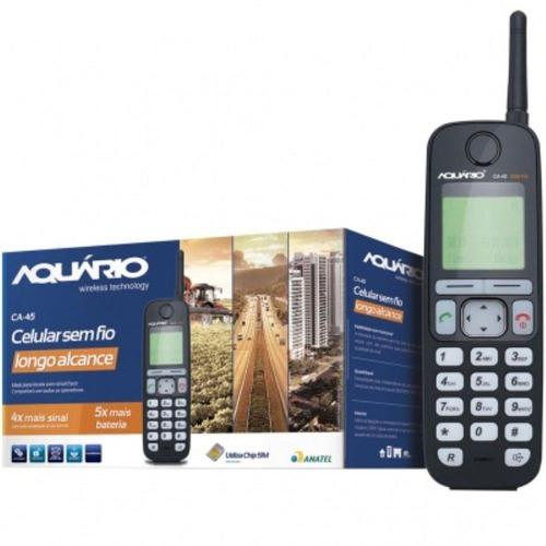 telefone aquario sem fio ca45 rural - ca-45 - 10x mais sinal