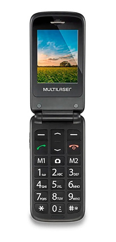 telefone básico idosos tecla sos flip vita red 2 chip foto