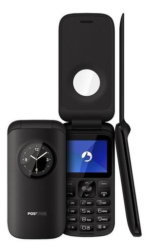 telefone básico para idosos positivo p40 rádio fm e câmera