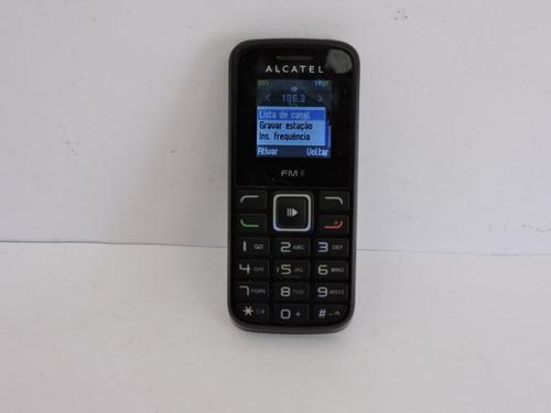 telefone celular 2 chips alcatel funcionando sem bateria fm