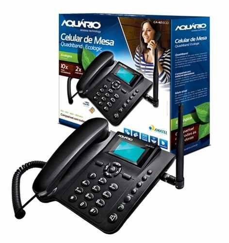 telefone celular de mesa quadriband ecologic aquario ca-40