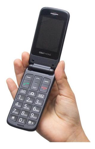 telefone celular fácil de usar obafone flip original obabox