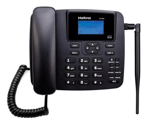 telefone celular fixo intelbras cf 42402 gsm dual chip
