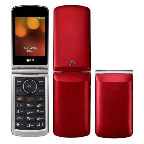 telefone celular flip idoso lg tela numero grande original