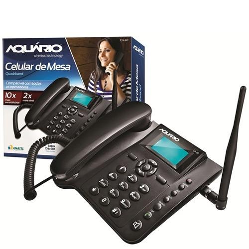 telefone celular rural de mesa aquário ca-40 desbloqueado nf
