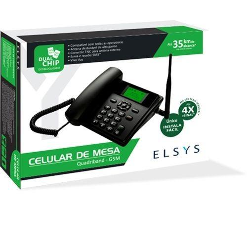 telefone celular rural de mesa dual viva voz epfs11 elsys