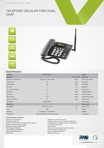telefone celular rural mesa 2 chip proeletronic procd 6010