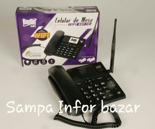 telefone celular rural mesa wi-fi 3g integrado bdf-12
