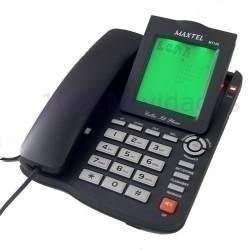 telefone com bina identificador de chamadas viva voz mt-129