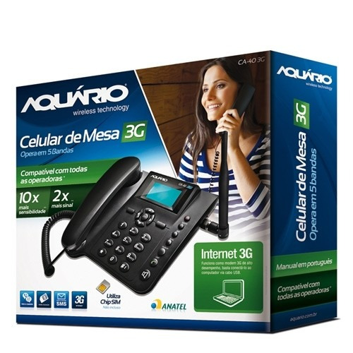 telefone de mesa ca-403g calendário e alarme original novo