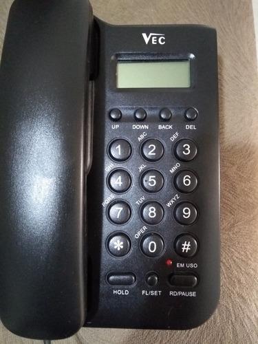 telefone de mesa  vec 46i v8.7 com identificador de chamada