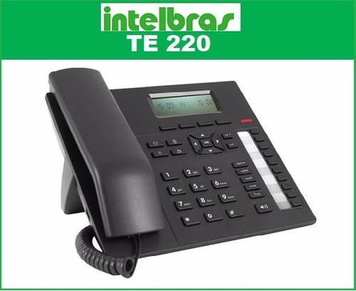 telefone dedicado intelbras para pabx viva-voz headset te220