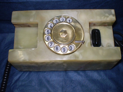 telefone disco ônix verde (mármore) raro - funcionando