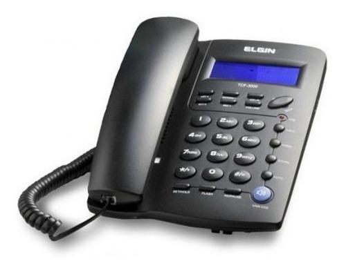 telefone elgin tcf3000 com fio, viva voz, chave, calculadora